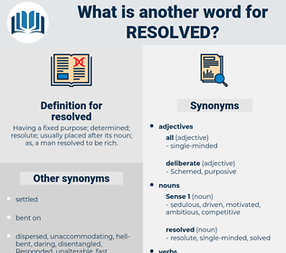 resolved, synonym resolved, another word for resolved, words like resolved, thesaurus resolved