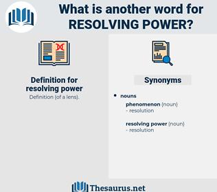resolving power, synonym resolving power, another word for resolving power, words like resolving power, thesaurus resolving power
