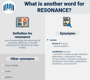 resonance, synonym resonance, another word for resonance, words like resonance, thesaurus resonance