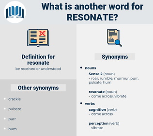 resonate, synonym resonate, another word for resonate, words like resonate, thesaurus resonate