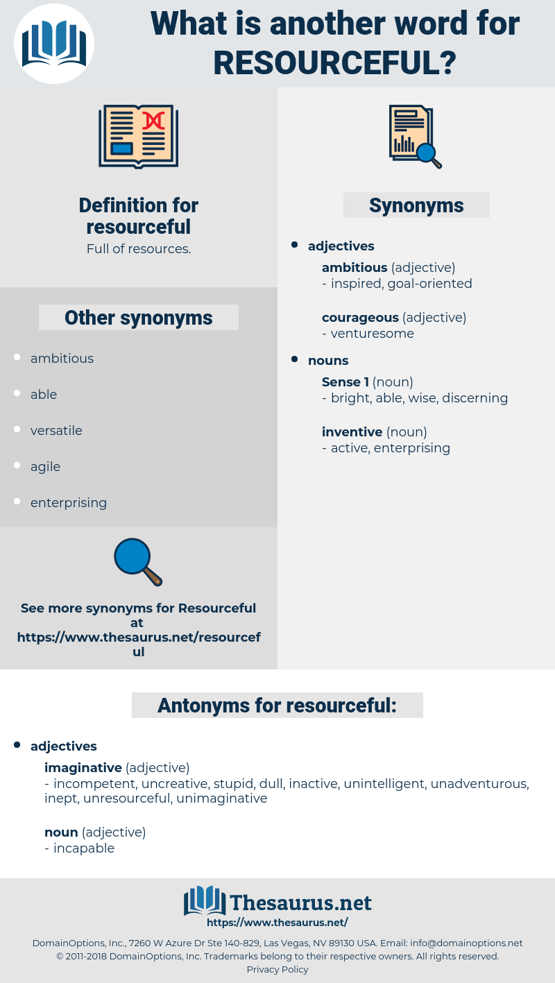 resourceful, synonym resourceful, another word for resourceful, words like resourceful, thesaurus resourceful