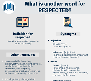 respected, synonym respected, another word for respected, words like respected, thesaurus respected
