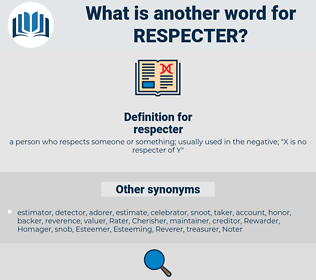 respecter, synonym respecter, another word for respecter, words like respecter, thesaurus respecter