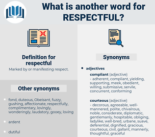 respectful, synonym respectful, another word for respectful, words like respectful, thesaurus respectful