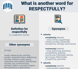 respectfully, synonym respectfully, another word for respectfully, words like respectfully, thesaurus respectfully