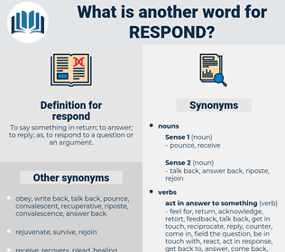 respond, synonym respond, another word for respond, words like respond, thesaurus respond