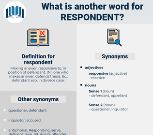 respondent, synonym respondent, another word for respondent, words like respondent, thesaurus respondent