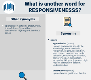 responsivenesss, synonym responsivenesss, another word for responsivenesss, words like responsivenesss, thesaurus responsivenesss