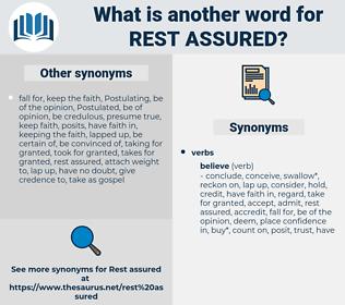 rest assured, synonym rest assured, another word for rest assured, words like rest assured, thesaurus rest assured