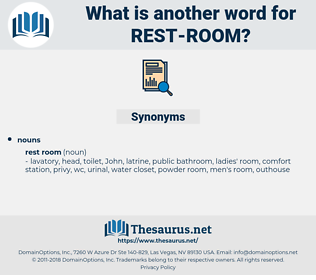 rest room, synonym rest room, another word for rest room, words like rest room, thesaurus rest room