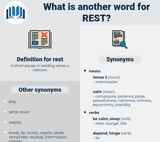rest, synonym rest, another word for rest, words like rest, thesaurus rest