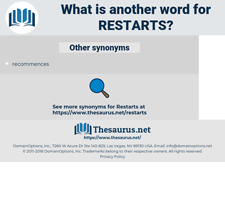 restarts, synonym restarts, another word for restarts, words like restarts, thesaurus restarts