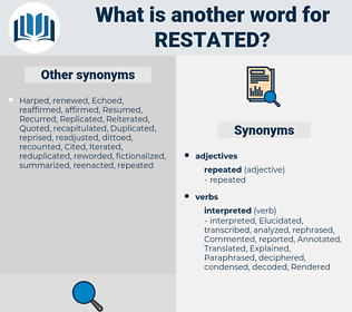 restated, synonym restated, another word for restated, words like restated, thesaurus restated
