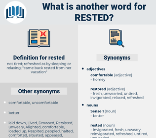 rested, synonym rested, another word for rested, words like rested, thesaurus rested