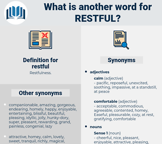 restful, synonym restful, another word for restful, words like restful, thesaurus restful