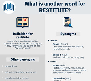restitute, synonym restitute, another word for restitute, words like restitute, thesaurus restitute