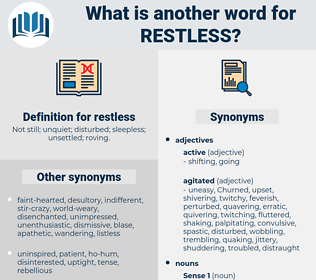 restless, synonym restless, another word for restless, words like restless, thesaurus restless