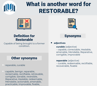 Restorable, synonym Restorable, another word for Restorable, words like Restorable, thesaurus Restorable