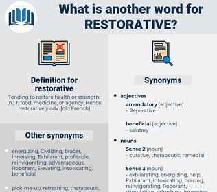 restorative, synonym restorative, another word for restorative, words like restorative, thesaurus restorative