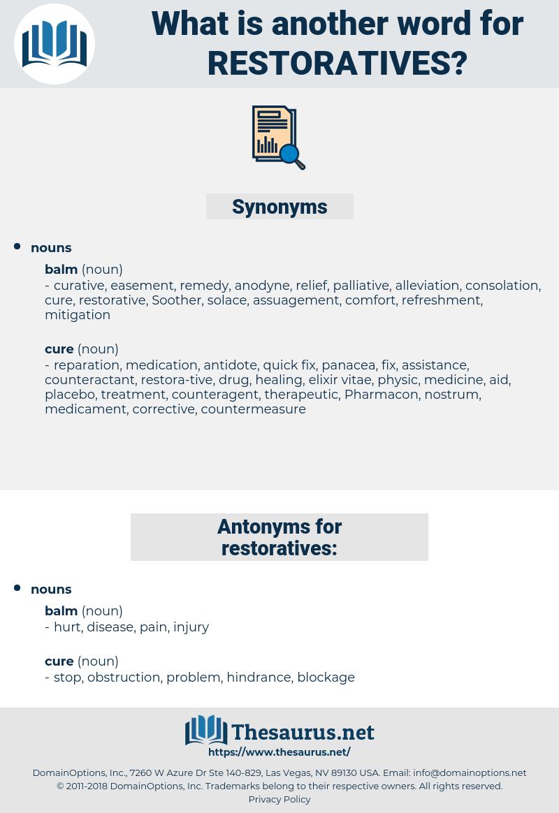 restoratives, synonym restoratives, another word for restoratives, words like restoratives, thesaurus restoratives
