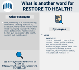 restore to health, synonym restore to health, another word for restore to health, words like restore to health, thesaurus restore to health