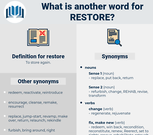restore, synonym restore, another word for restore, words like restore, thesaurus restore