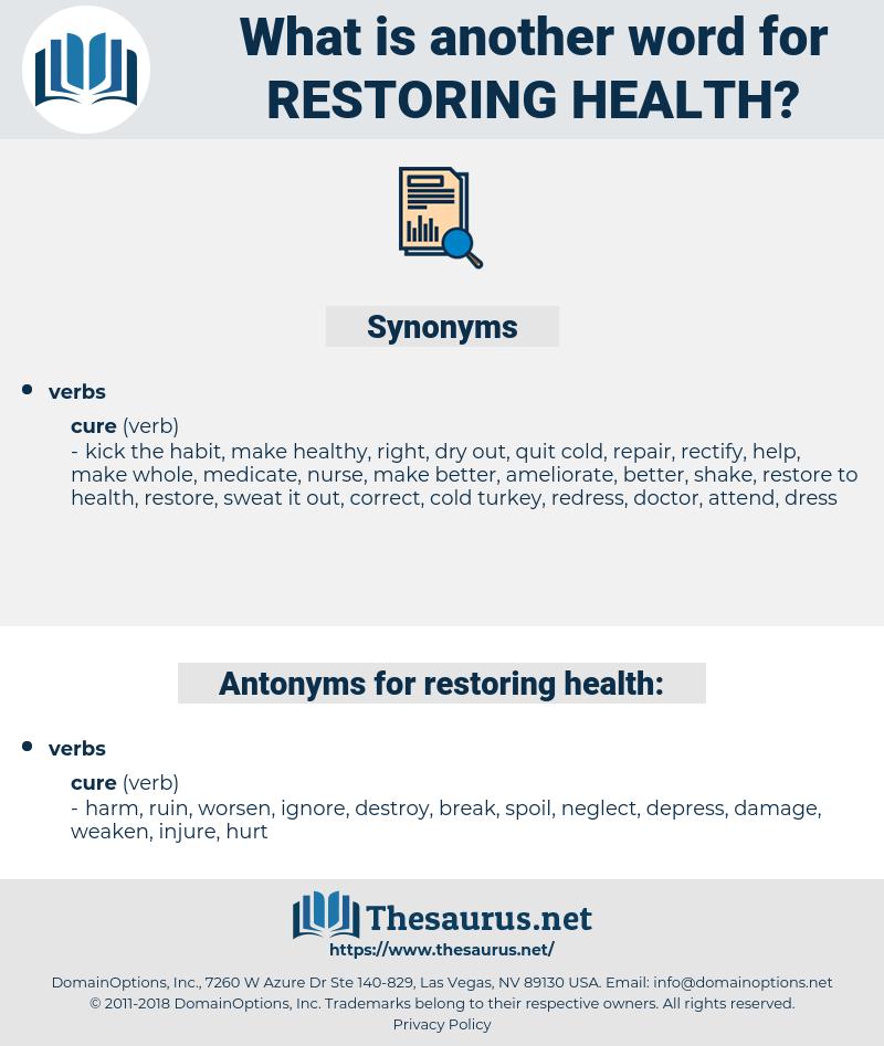 restoring health, synonym restoring health, another word for restoring health, words like restoring health, thesaurus restoring health