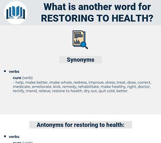 restoring to health, synonym restoring to health, another word for restoring to health, words like restoring to health, thesaurus restoring to health