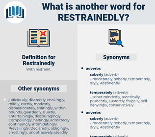 Restrainedly, synonym Restrainedly, another word for Restrainedly, words like Restrainedly, thesaurus Restrainedly