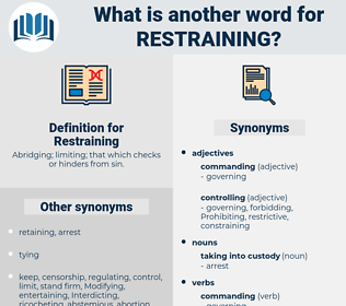 Restraining, synonym Restraining, another word for Restraining, words like Restraining, thesaurus Restraining