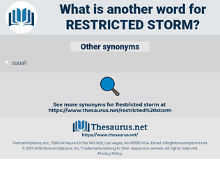 restricted storm, synonym restricted storm, another word for restricted storm, words like restricted storm, thesaurus restricted storm