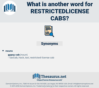 restrictedlicense cabs, synonym restrictedlicense cabs, another word for restrictedlicense cabs, words like restrictedlicense cabs, thesaurus restrictedlicense cabs