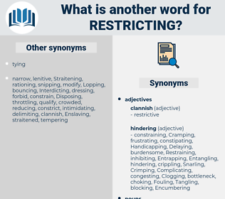 restricting, synonym restricting, another word for restricting, words like restricting, thesaurus restricting