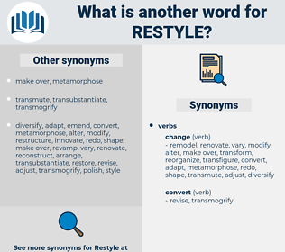 restyle, synonym restyle, another word for restyle, words like restyle, thesaurus restyle