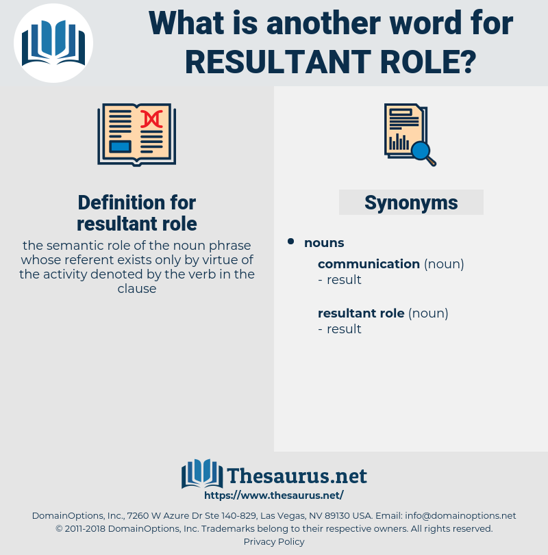 resultant role, synonym resultant role, another word for resultant role, words like resultant role, thesaurus resultant role