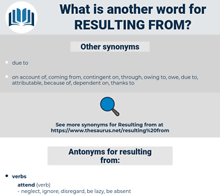 resulting from, synonym resulting from, another word for resulting from, words like resulting from, thesaurus resulting from
