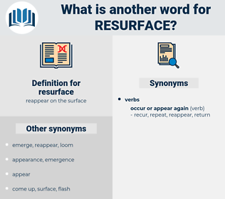 resurface, synonym resurface, another word for resurface, words like resurface, thesaurus resurface