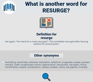 resurge, synonym resurge, another word for resurge, words like resurge, thesaurus resurge