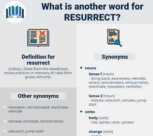 resurrect, synonym resurrect, another word for resurrect, words like resurrect, thesaurus resurrect