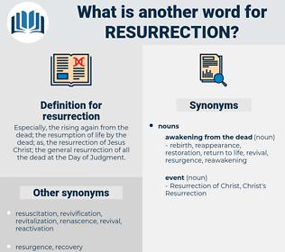 resurrection, synonym resurrection, another word for resurrection, words like resurrection, thesaurus resurrection