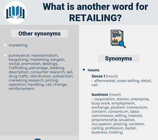 retailing, synonym retailing, another word for retailing, words like retailing, thesaurus retailing