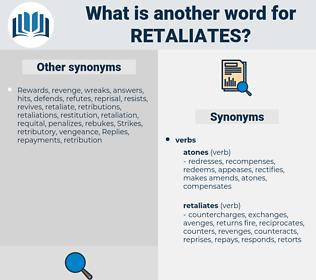 retaliates, synonym retaliates, another word for retaliates, words like retaliates, thesaurus retaliates