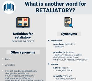 retaliatory, synonym retaliatory, another word for retaliatory, words like retaliatory, thesaurus retaliatory