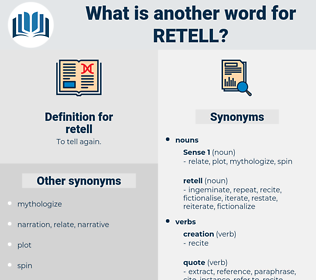 retell, synonym retell, another word for retell, words like retell, thesaurus retell