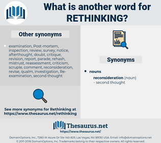 rethinking, synonym rethinking, another word for rethinking, words like rethinking, thesaurus rethinking
