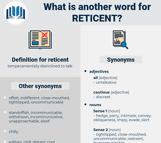 reticent, synonym reticent, another word for reticent, words like reticent, thesaurus reticent