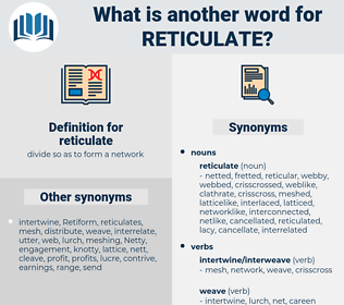 reticulate, synonym reticulate, another word for reticulate, words like reticulate, thesaurus reticulate