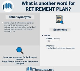 retirement plan, synonym retirement plan, another word for retirement plan, words like retirement plan, thesaurus retirement plan