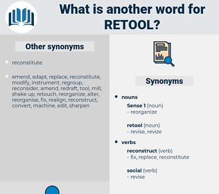 retool, synonym retool, another word for retool, words like retool, thesaurus retool
