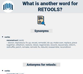 retools, synonym retools, another word for retools, words like retools, thesaurus retools